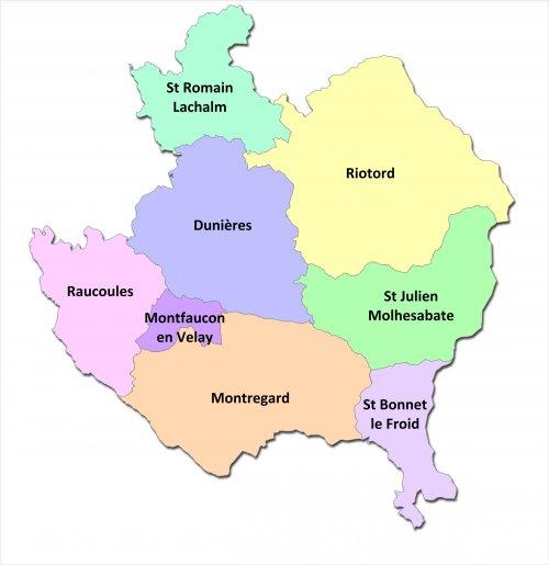 Carte de la Communauté de Communes du Pays de Montfaucon