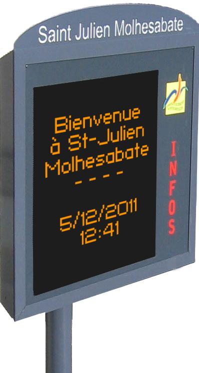 Panneau d'information lumineux mis en place par la Communauté de Communes du Pays de Montfaucon